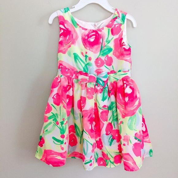 The Children's Place Neon Floral Sleeveless Dress